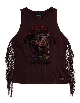 Top Superdry Side Fringe Tank