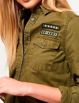 Sobrecamisa Superdry Rookie Patch Military mujer