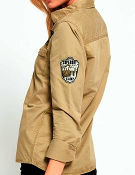 Camisa militar Superdry Rookie Patch khaki mujer