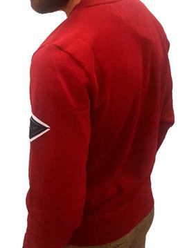 Sudadera Replay roja con logotipo reflectante