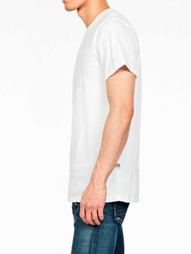 Camiseta G Star blanca lisa Base S