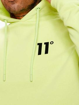 Sudadera 11 degrees Core hoodie avocado green