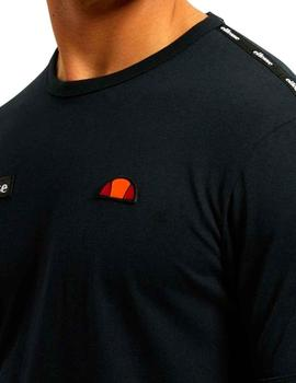 Camiseta Ellesse Fedora negra parches bordados