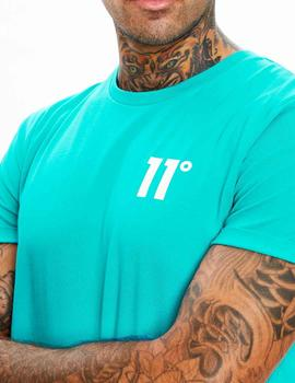 Camiseta 11 Degrees Core Muscle Fit verde azulado