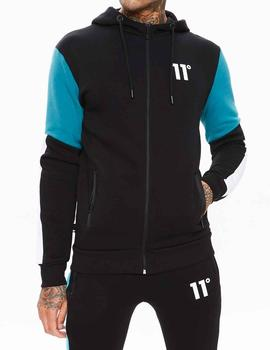 Chaqueta 11 Degrees Carbon Full negra para hombre