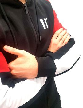 Chaqueta 11 Degrees cremallera Carbon Full negra