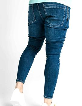 Tejano azul SikSilk Distressed Flight Denims