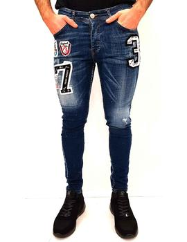 Jeans Mario Morato Denim con estampas bordadas