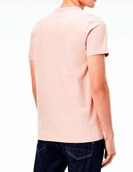 Camiseta G Star Raw parche negro color rosa