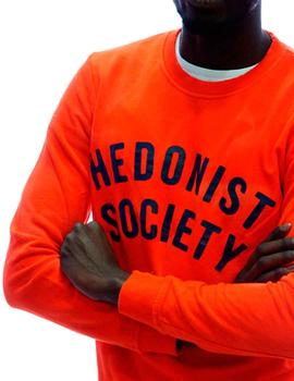 Sudadera Scotch and Soda naranja efecto desteñido