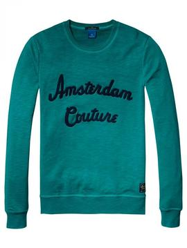 Sudadera Scotch and Soda verde Amsterdam Couture