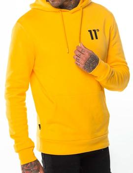 Sudadera 11 Degrees Core Pull Over Hoodie amarilla