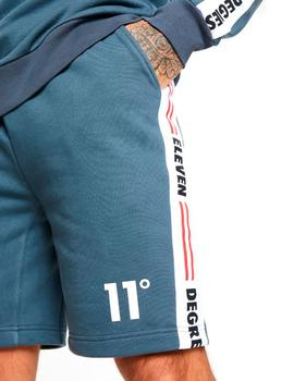Bermuda 11 Degrees Taped Sweat gris para hombre